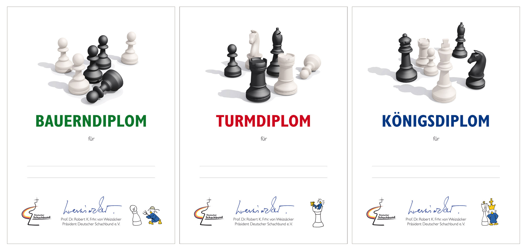 Projects layoutgraphics koenige webdesign graphics databases chess diplomas the german chess association awards three diploma certificates yelopaper Images